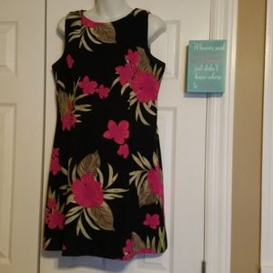 AGB Dress Sleeveless Dress 14P black pink floral